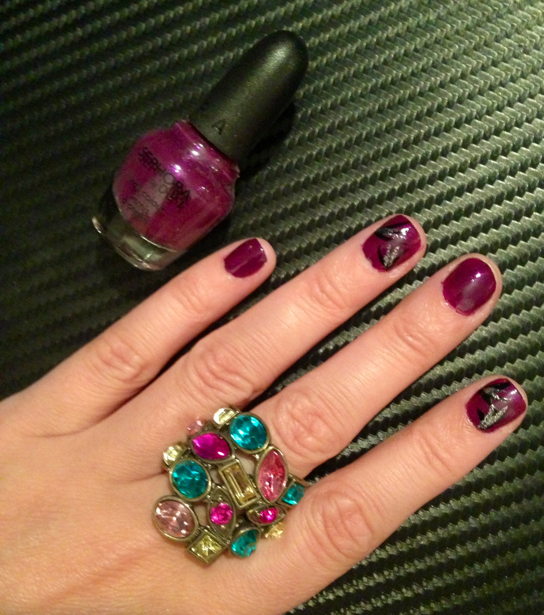 Nails – Royal Purple – Pearls and Paris