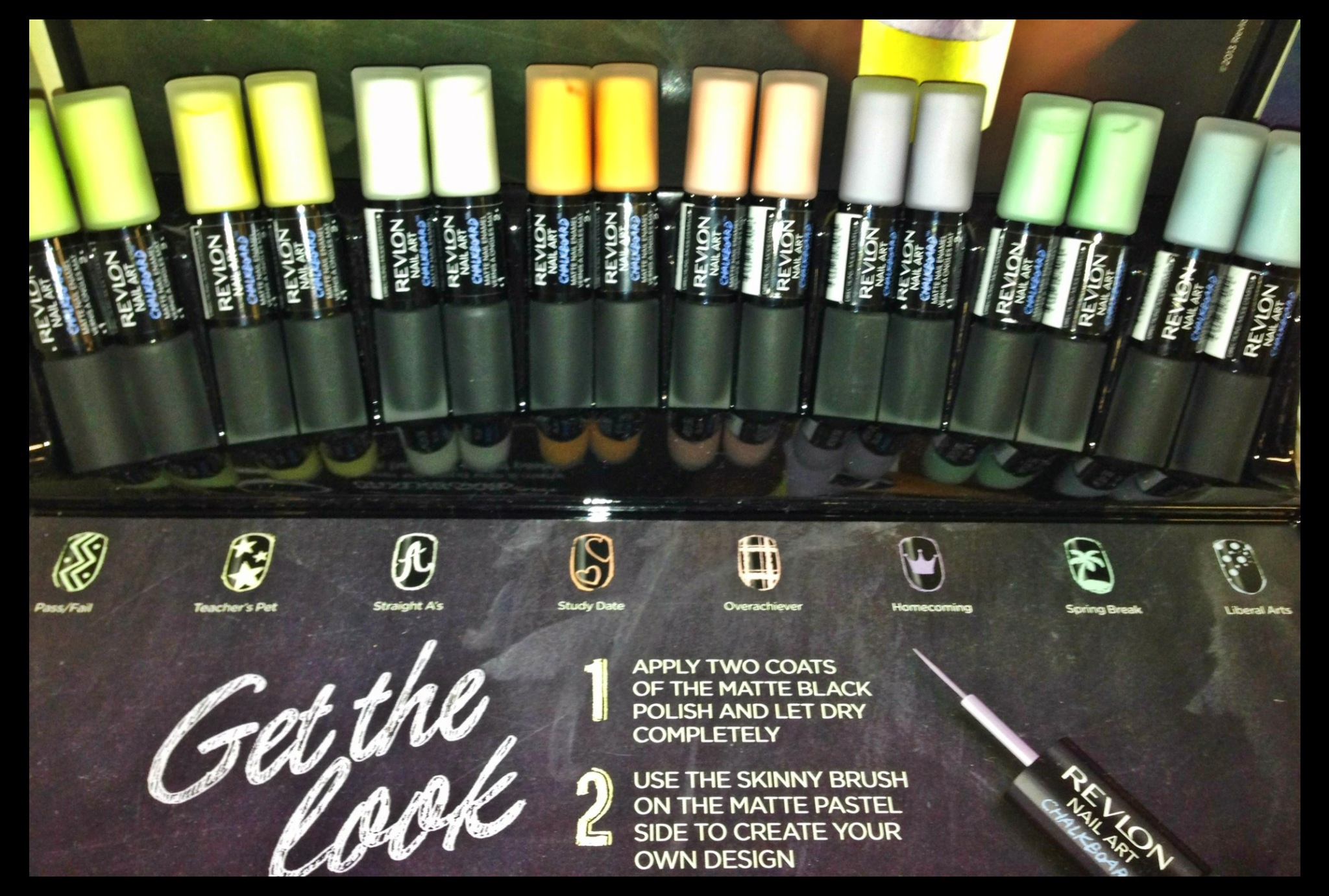 Revlon Limited Edition Chalkboard Nail Art Collection Pearls And