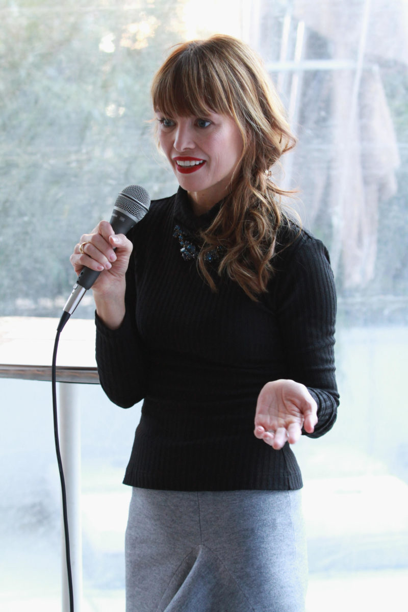 Annabella Daily speaks at the Simply Stylist New York Fashion and Beauty Conference at YOTEL on Saturday, Nov. 5, 2016, in New York City. (Photo by Soul Brother)