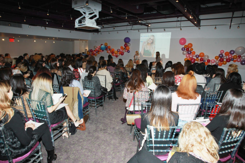 Lauren Bushnell, left, and Catt Sadler speak at the Simply Stylist New York Fashion and Beauty Conference at YOTEL on Saturday, Nov. 5, 2016, in New York City. (Photo by Soul Brother)